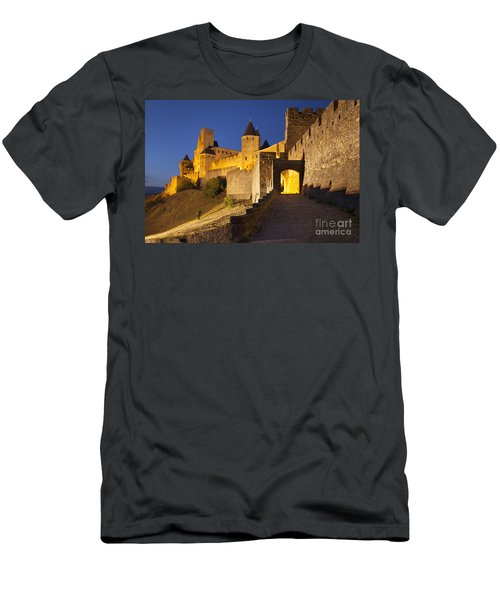 Men's T-Shirt (Athletic Fit) featuring the photograph Medieval Carcassonne by Brian Jannsen
