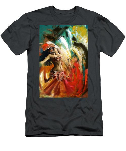 Abstract Belly Dancer 19 Men's T-Shirt (Athletic Fit)