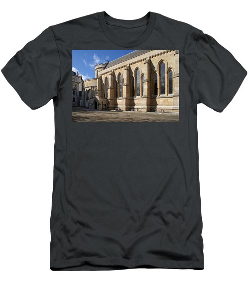 Knights Templar Temple In London Men's T-Shirt (Slim Fit) by Carol Ailles