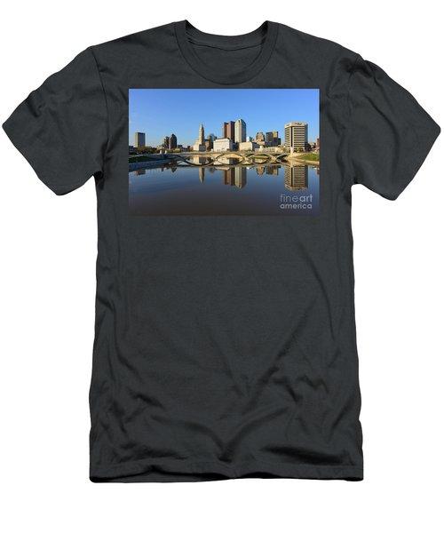Fx1l-1058 Columbus Ohio Skyline Photo Men's T-Shirt (Athletic Fit)