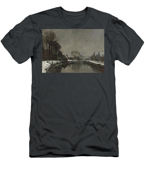 A Belgian Town In Winter Men's T-Shirt (Athletic Fit)