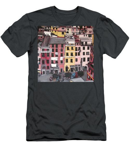 A Bird's Eye View Of Cinque Terre Men's T-Shirt (Athletic Fit)