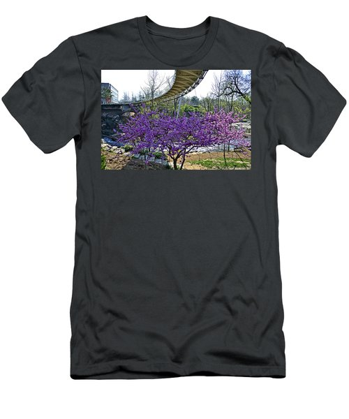 Men's T-Shirt (Slim Fit) featuring the photograph A Bridge To Spring by Larry Bishop