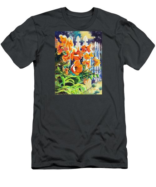A Choir Of Poppies Men's T-Shirt (Slim Fit) by Kathy Braud