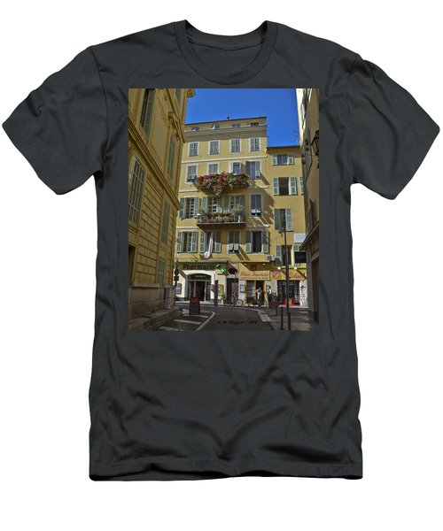 Men's T-Shirt (Slim Fit) featuring the photograph A Corner In Nice by Allen Sheffield