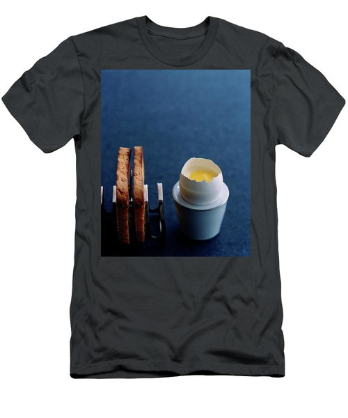 A Dessert Made To Look Like An Egg And Toast Men's T-Shirt (Athletic Fit)