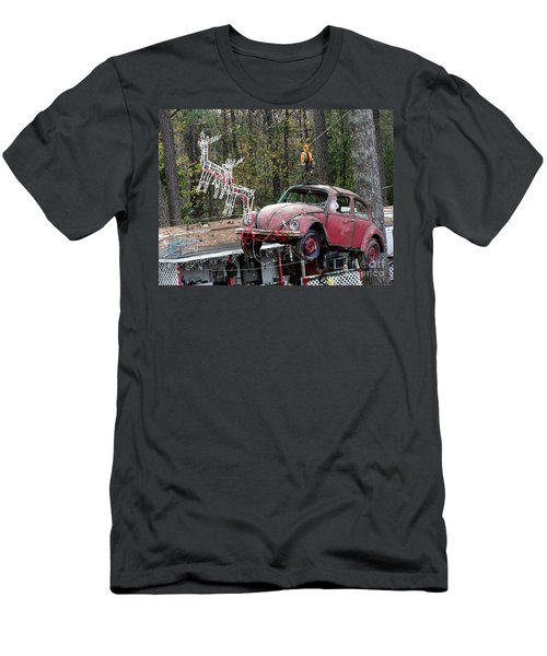 Men's T-Shirt (Slim Fit) featuring the photograph A Difference Sleigh  by Donna Brown