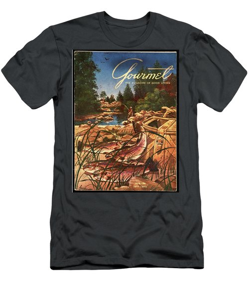 A Fishing Scene Men's T-Shirt (Athletic Fit)