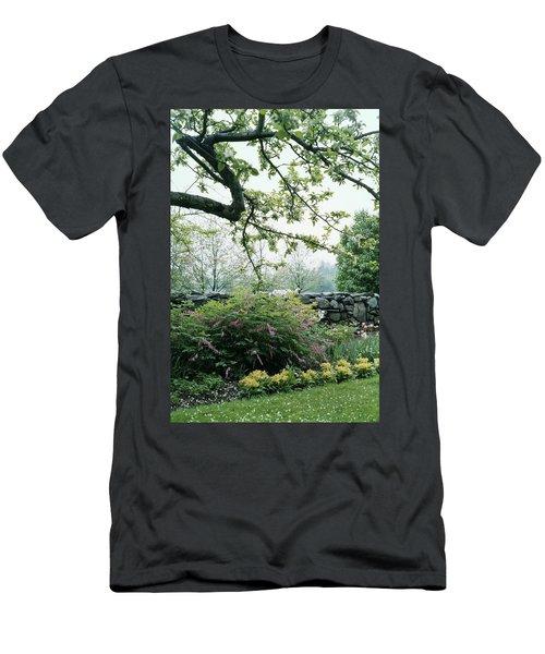 A Flower Bed In Mrs. Frank Audibert's Garden Men's T-Shirt (Athletic Fit)