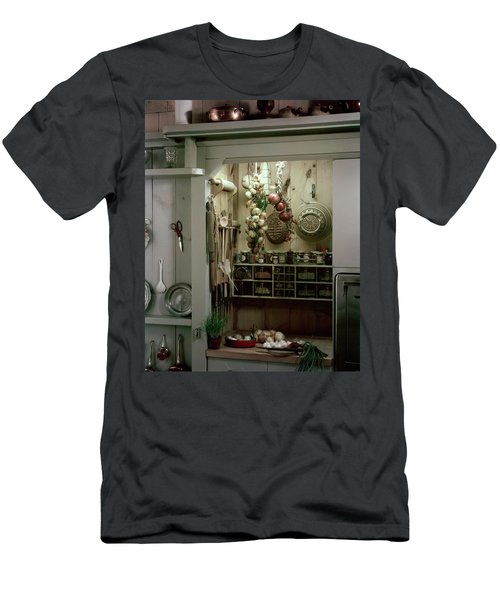 A Full Spice Rack In A Kitchen Men's T-Shirt (Athletic Fit)