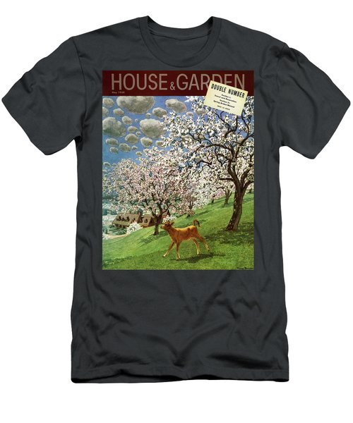 A House And Garden Cover Of A Calf Men's T-Shirt (Athletic Fit)