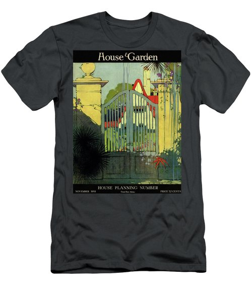 A House And Garden Cover Of A Gate Men's T-Shirt (Athletic Fit)