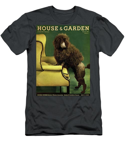 A House And Garden Cover Of A Poodle Men's T-Shirt (Athletic Fit)