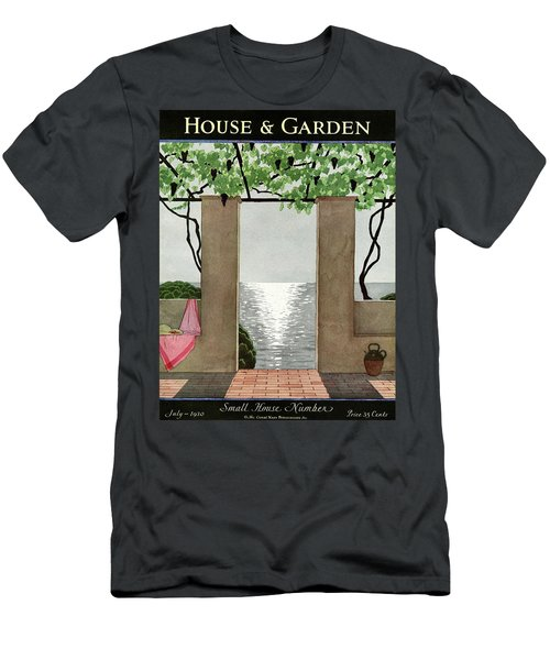 A House And Garden Cover Of A Seaside Patio Men's T-Shirt (Athletic Fit)