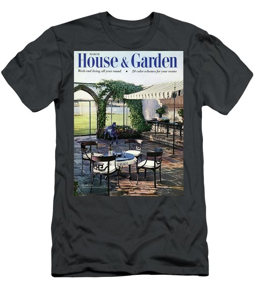 A House And Garden Cover Of A Terrace In East Men's T-Shirt (Athletic Fit)