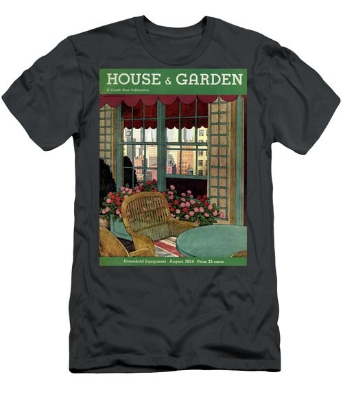 A House And Garden Cover Of A Wicker Chair Men's T-Shirt (Athletic Fit)