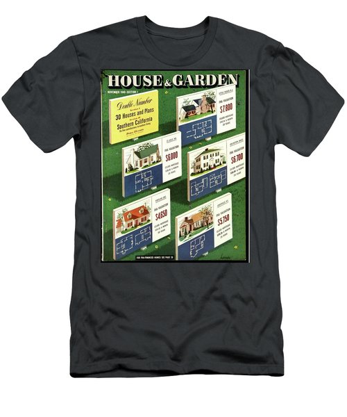 A House And Garden Cover Of Floorplans Men's T-Shirt (Athletic Fit)