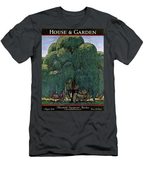 A House And Garden Cover Of People Dining Men's T-Shirt (Athletic Fit)