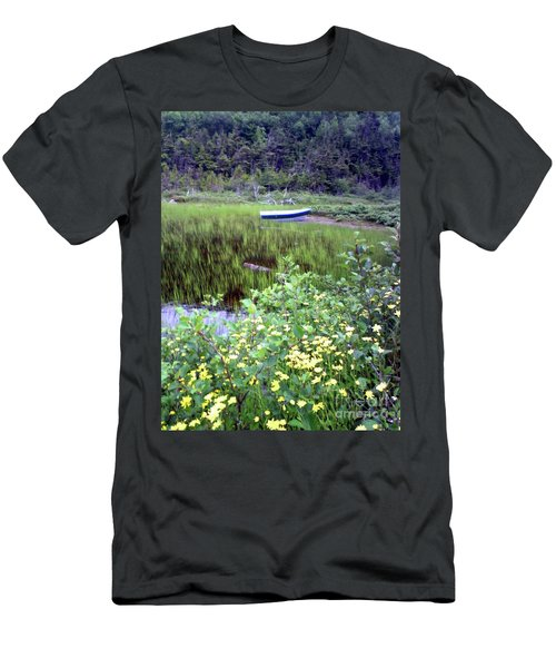 Men's T-Shirt (Slim Fit) featuring the photograph A Little Flat Awaiting by Barbara Griffin