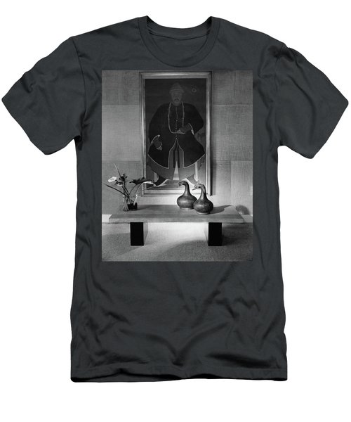 A Modern Table With An Oriental Painting Men's T-Shirt (Athletic Fit)