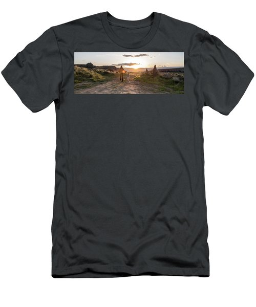A Mother And Child Hike At Sunset Men's T-Shirt (Athletic Fit)