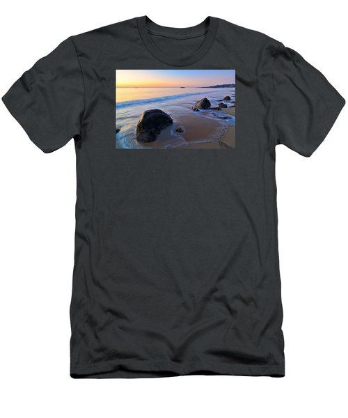 A New Day Singing Beach Men's T-Shirt (Slim Fit) by Michael Hubley