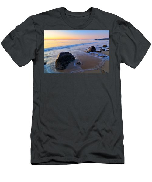 Men's T-Shirt (Athletic Fit) featuring the photograph A New Day Singing Beach by Michael Hubley