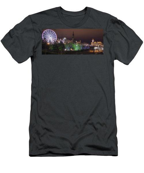 A Princes Street Gardens Christmas Men's T-Shirt (Athletic Fit)