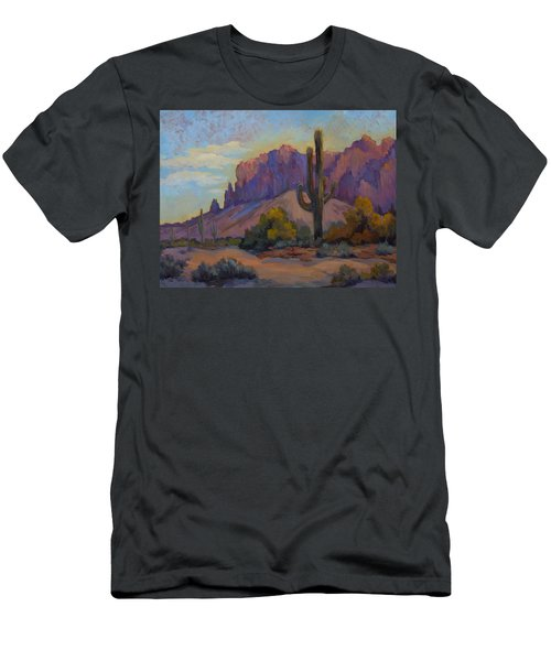 A Proud Saguaro At Superstition Mountain Men's T-Shirt (Athletic Fit)