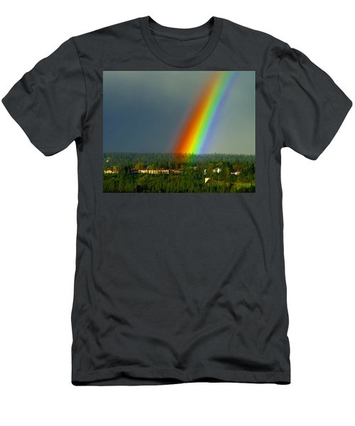 A Rainbow Blessing Spokane Men's T-Shirt (Athletic Fit)