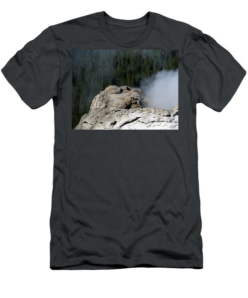 A Smoking Man. Yellowstone Hot Springs Men's T-Shirt (Slim Fit) by Ausra Huntington nee Paulauskaite