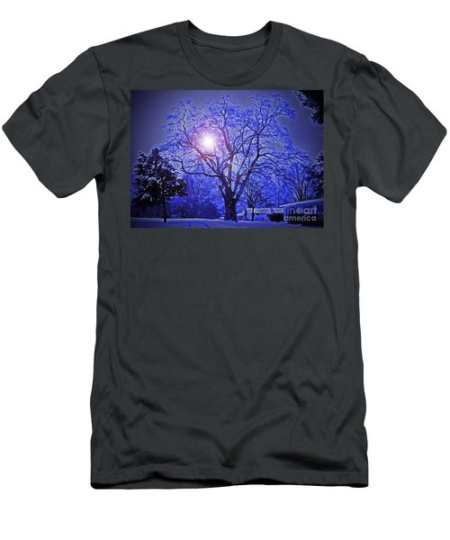 A Snow Glow Evening Men's T-Shirt (Slim Fit) by Lydia Holly