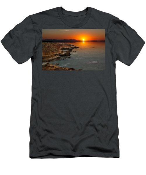 A Sunset Men's T-Shirt (Slim Fit) by Lynn Geoffroy