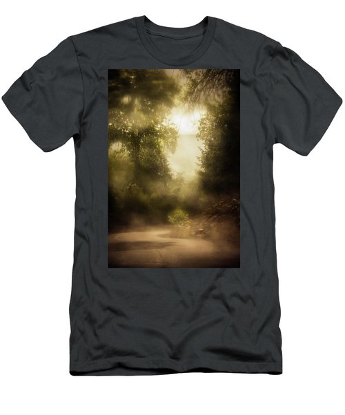 A Turn In A Rainy Road Men's T-Shirt (Athletic Fit)