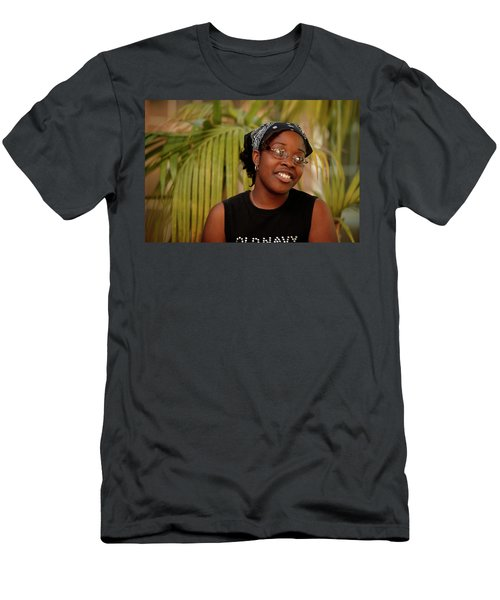 A Very Animated African American Female Men's T-Shirt (Athletic Fit)