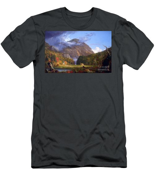 A View Of The Mountain Pass Called The Notch Of The White Mountans By Thomas Cole Men's T-Shirt (Athletic Fit)