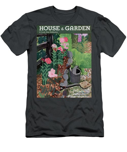 A Watering Can And A Shovel By A Flower Bed Men's T-Shirt (Athletic Fit)