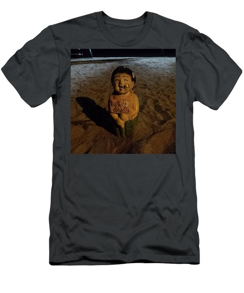 Men's T-Shirt (Athletic Fit) featuring the photograph A Welcoming Friend On My Night Stroll by Mr Photojimsf