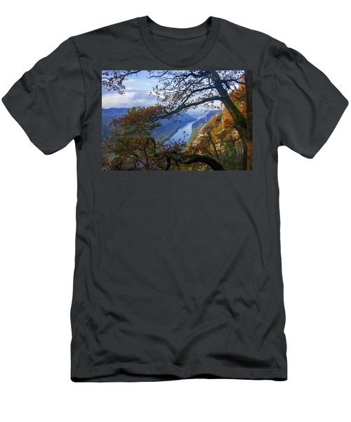 A Window To The Elbe In The Saxon Switzerland Men's T-Shirt (Athletic Fit)