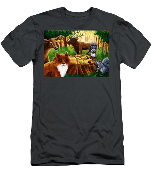 A Woodland Thanksgiving Men's T-Shirt (Athletic Fit)
