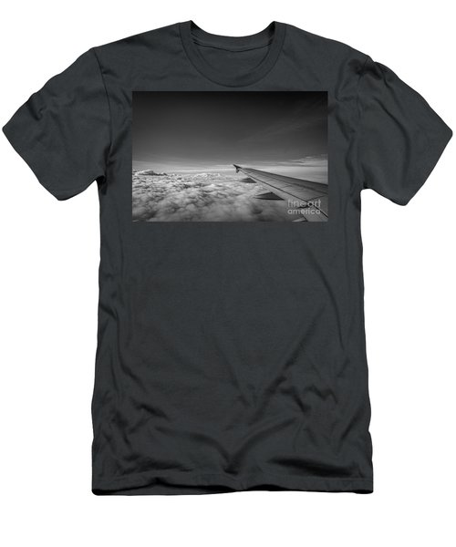 Above The Clouds Bw Men's T-Shirt (Athletic Fit)