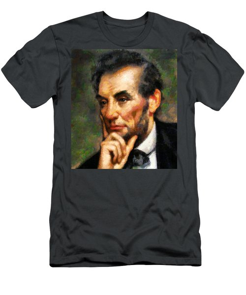 Abraham Lincoln - Abstract Realism Men's T-Shirt (Athletic Fit)