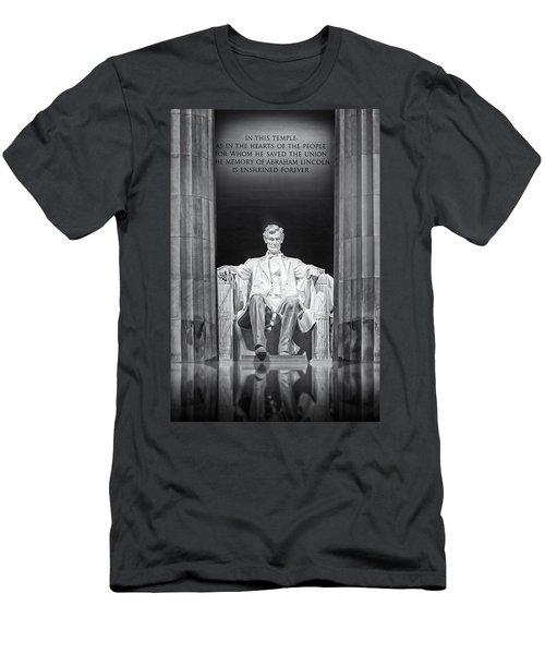 Abraham Lincoln Memorial Men's T-Shirt (Athletic Fit)