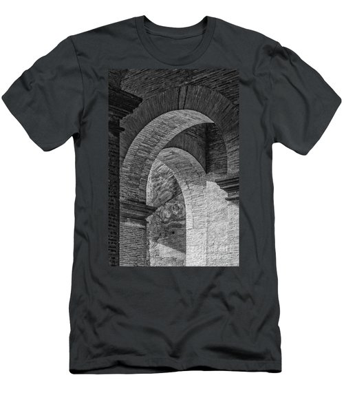 Abstract Arches Colosseum Mono Men's T-Shirt (Athletic Fit)