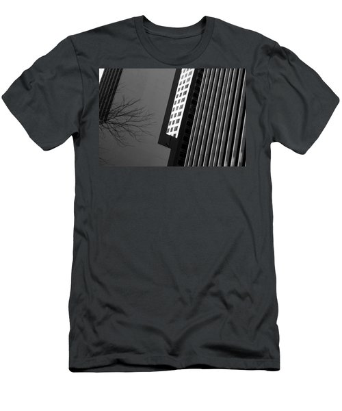 Abstract Building Patterns Black White Men's T-Shirt (Athletic Fit)