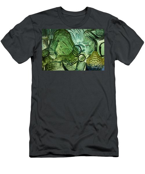 Abstract In Green Men's T-Shirt (Athletic Fit)
