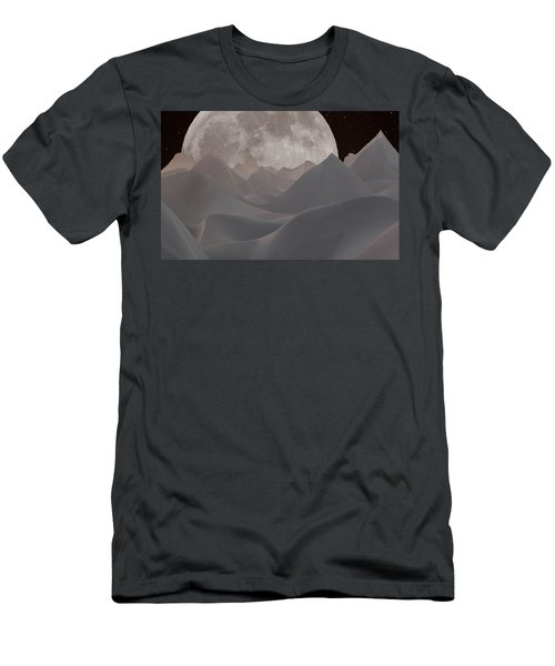 Abstract Landscape #3 Men's T-Shirt (Slim Fit) by Wally Hampton