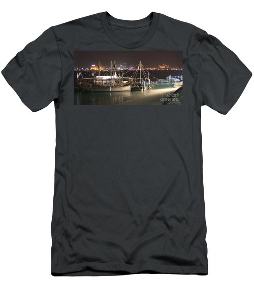 Men's T-Shirt (Slim Fit) featuring the photograph Abu Dhabi At Night by Andrea Anderegg