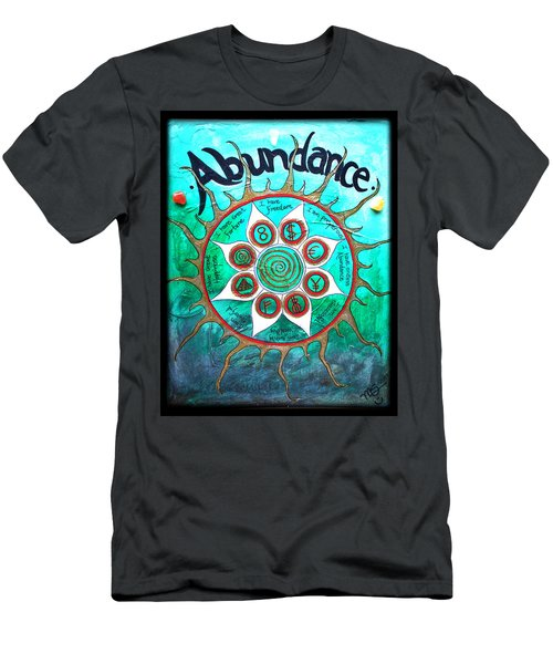 Abundance Money Magnet - Healing Art Men's T-Shirt (Slim Fit) by Absinthe Art By Michelle LeAnn Scott