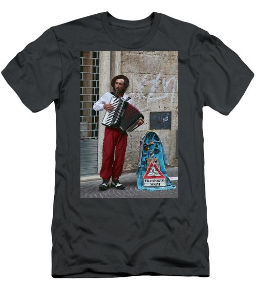 Accordian Player Men's T-Shirt (Athletic Fit)